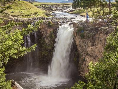 מפל אורחון (Ulaan Tsutgalan waterfall), מונגוליה