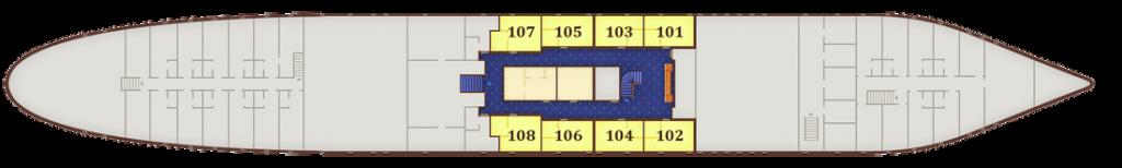 תאי STANDARD בקומה 1 - Cabin deck, מידות התא: 9.4 מ