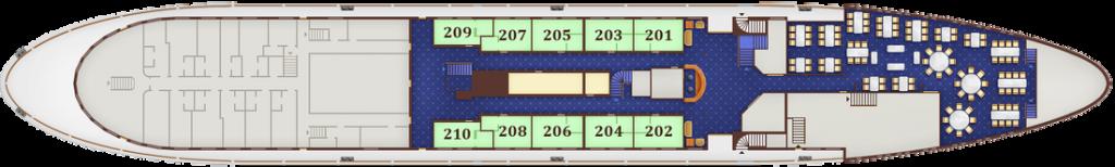 תאי SUPERIOR בקומה 2 - Main deck, מידות התא: 10.6 מ