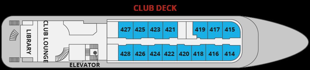 CLUB DECK | ספינת Sea Spirit