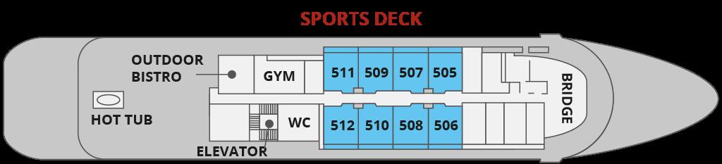 SPORTS DECK | ספינת Sea Spirit