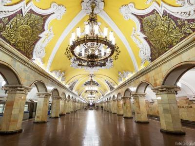 המטרו המפורסם של מוסקבה