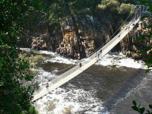 גשר התלוי מעל נהר הסערות, ציציקאמה, טיול לדרום אפריקה