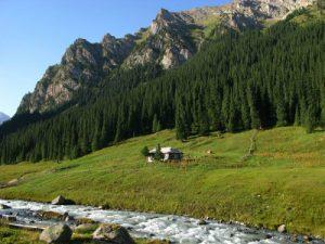 עמק אלטין ארשאן (Altyn Arashan), קיריגזסטן