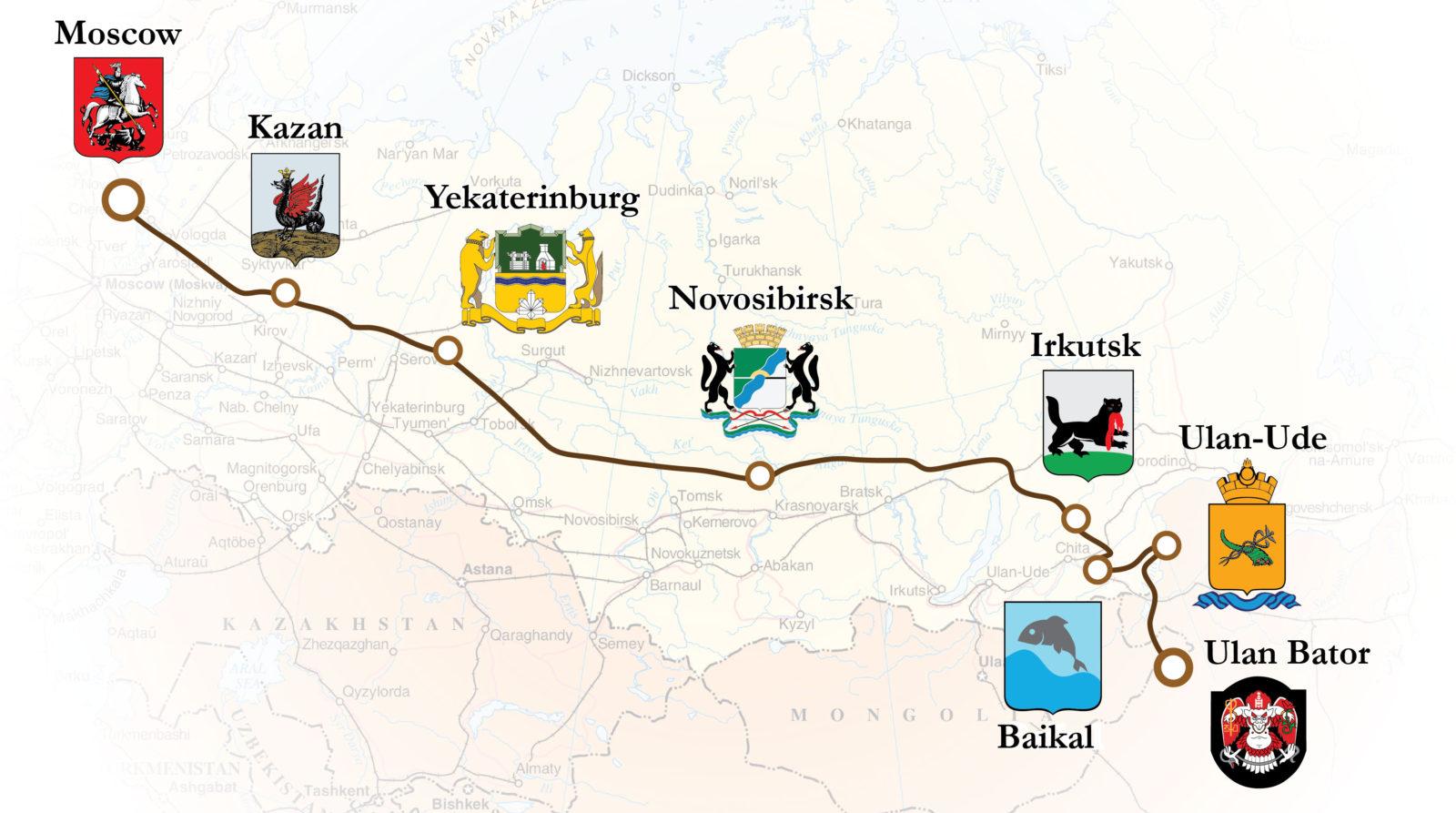 מסלול הטיול ברכבת הטרנס סיבירית - מרוסיה למונגוליה